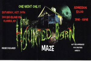 HAUNTED BARN MAZE  to BENEFIT WVHS  and FLORIDA LOCAL FOOD PANTRY